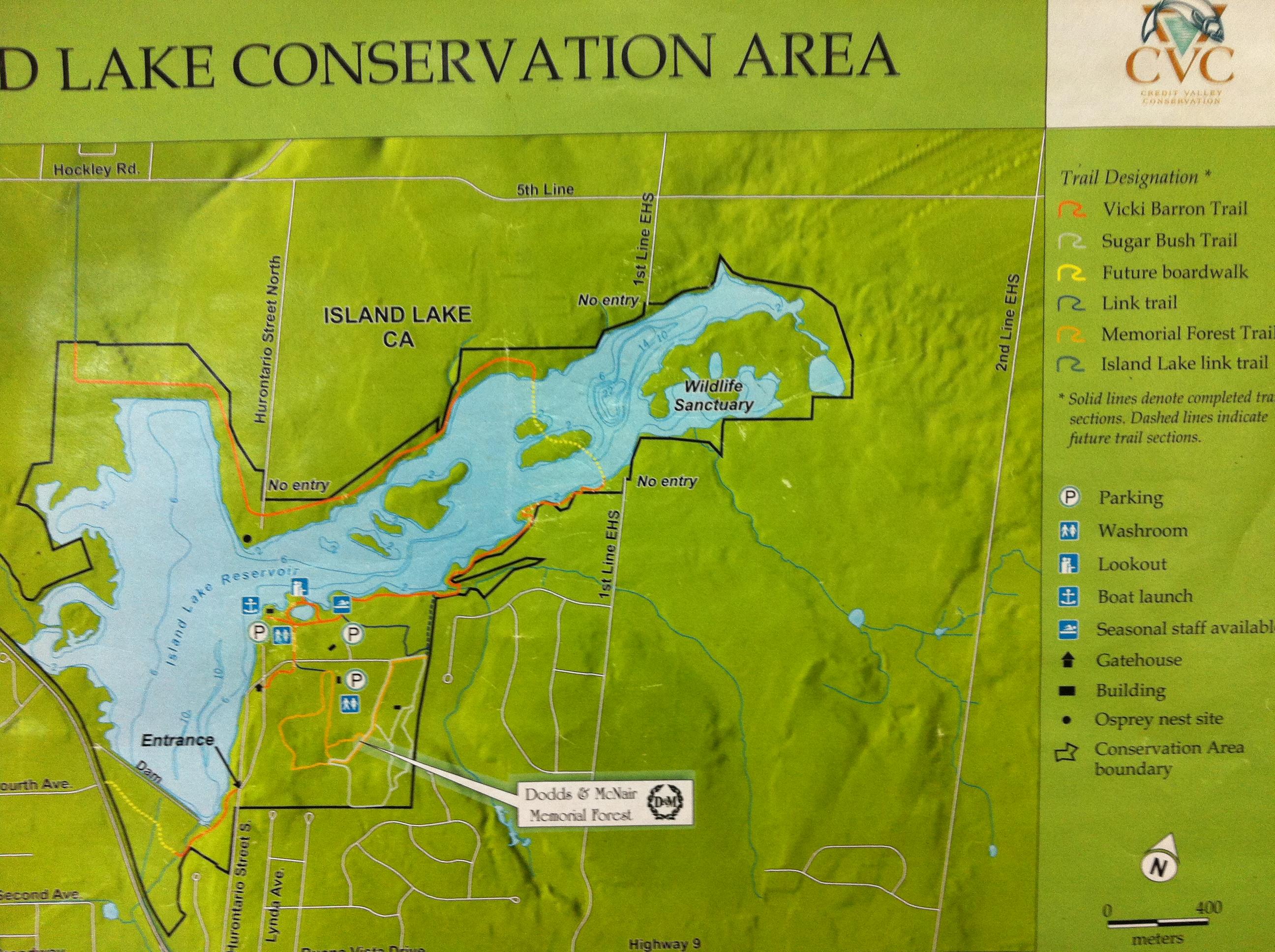 Island Lake Map Orangeville