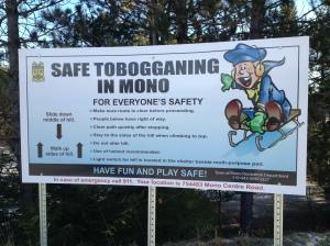 Tobogganing in Mono