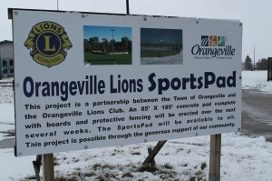Orangerville Lions Sports Pad