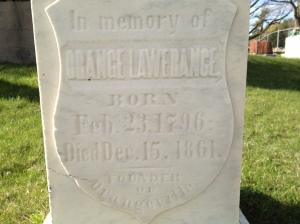 Orange Lawrence's Grave