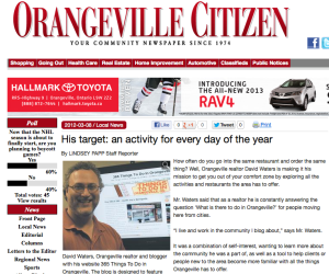 365 things to do in Orangeville in the news